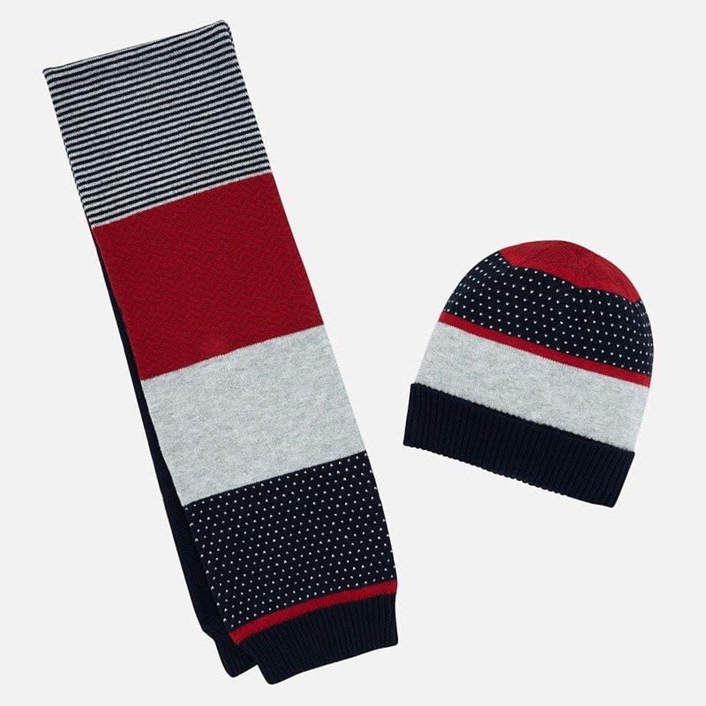 Mayoral Ens. foulard-bonnet - marine - 6M