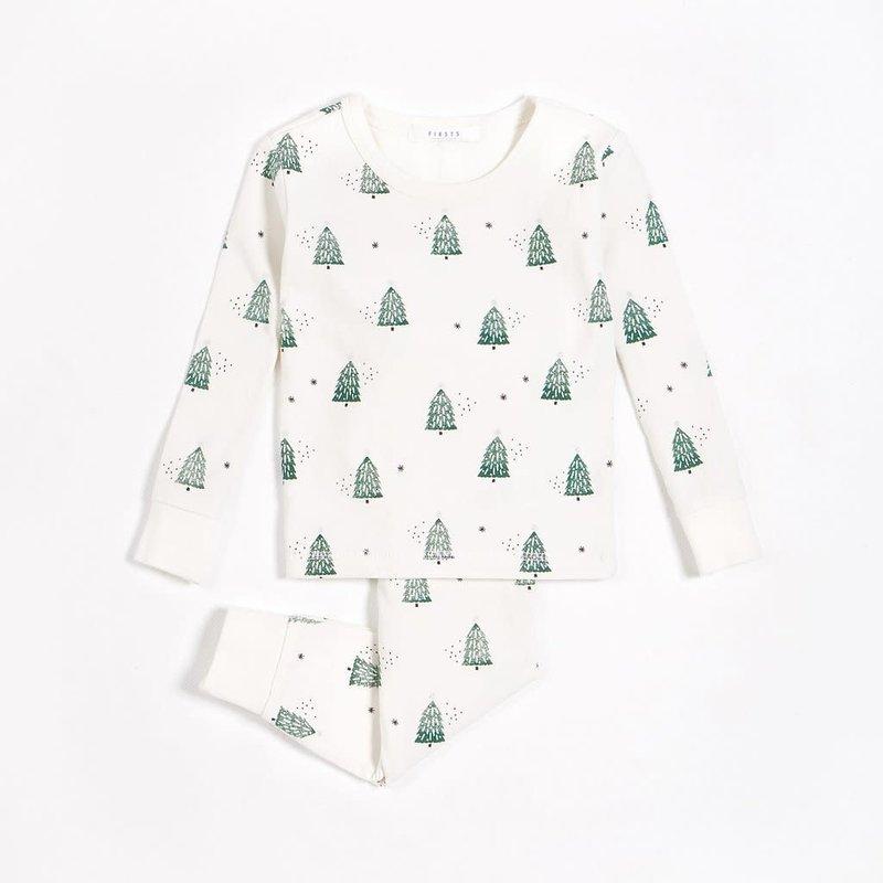 Petit Lem Pyjama - sapins festifs -