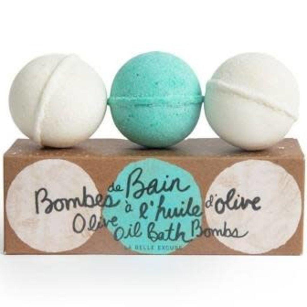 Bombes de bain à l'huile d'olive
