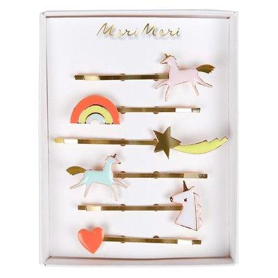 Meri Meri Unicorn enamel - hair clips -