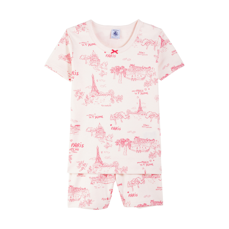 Petit Bateau Pyjama manches courtes - rose -