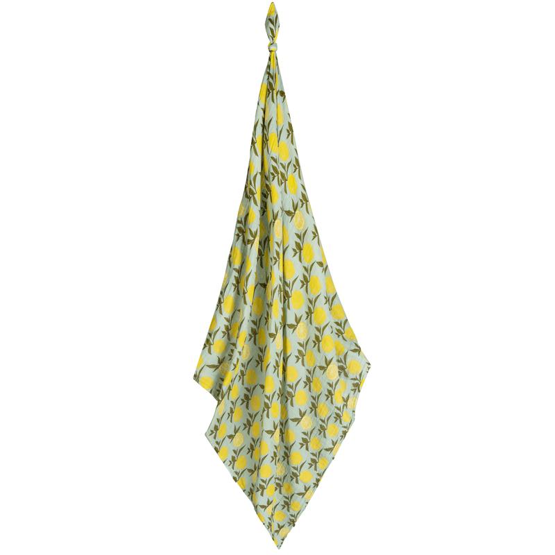 Milkbarn Couverture mousseline coton organique - lemon