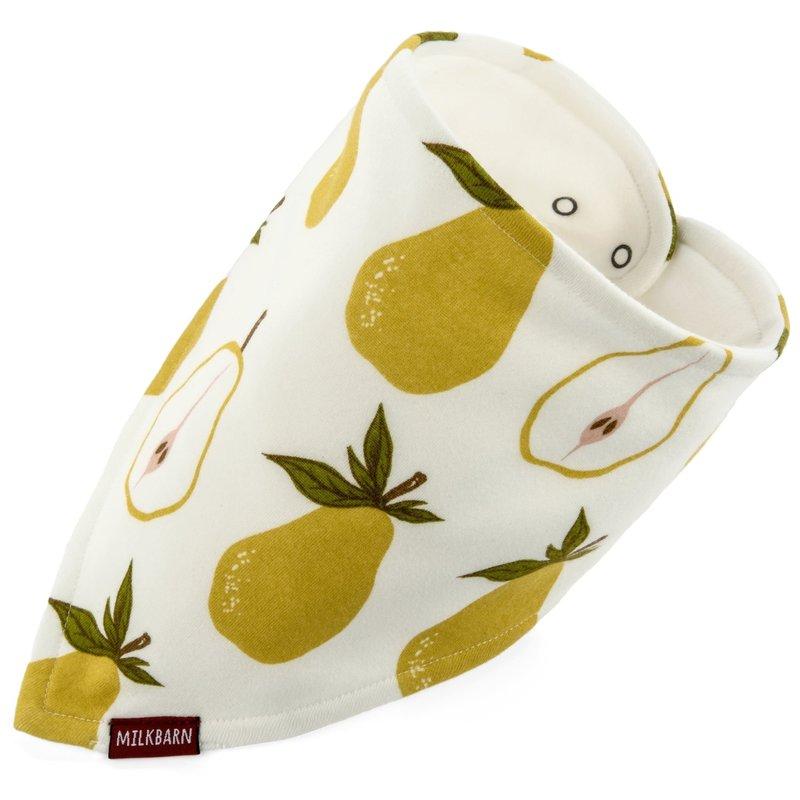 Milkbarn Bavoir en coton organique - pear