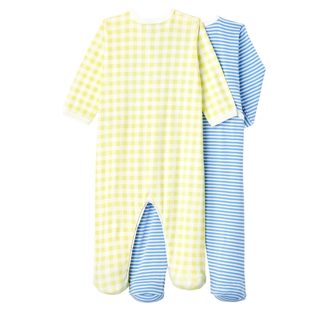 Petit Bateau Lot de 2 pyjamas - bleu-jaune -