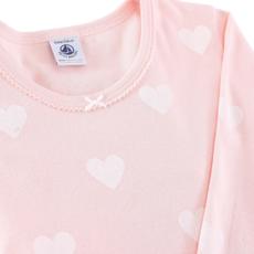 Petit bateau Pyjama snugfit coeur rose -