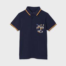 """Mayoral Polo """"poche imprime"""" - Bleu (mer)"""