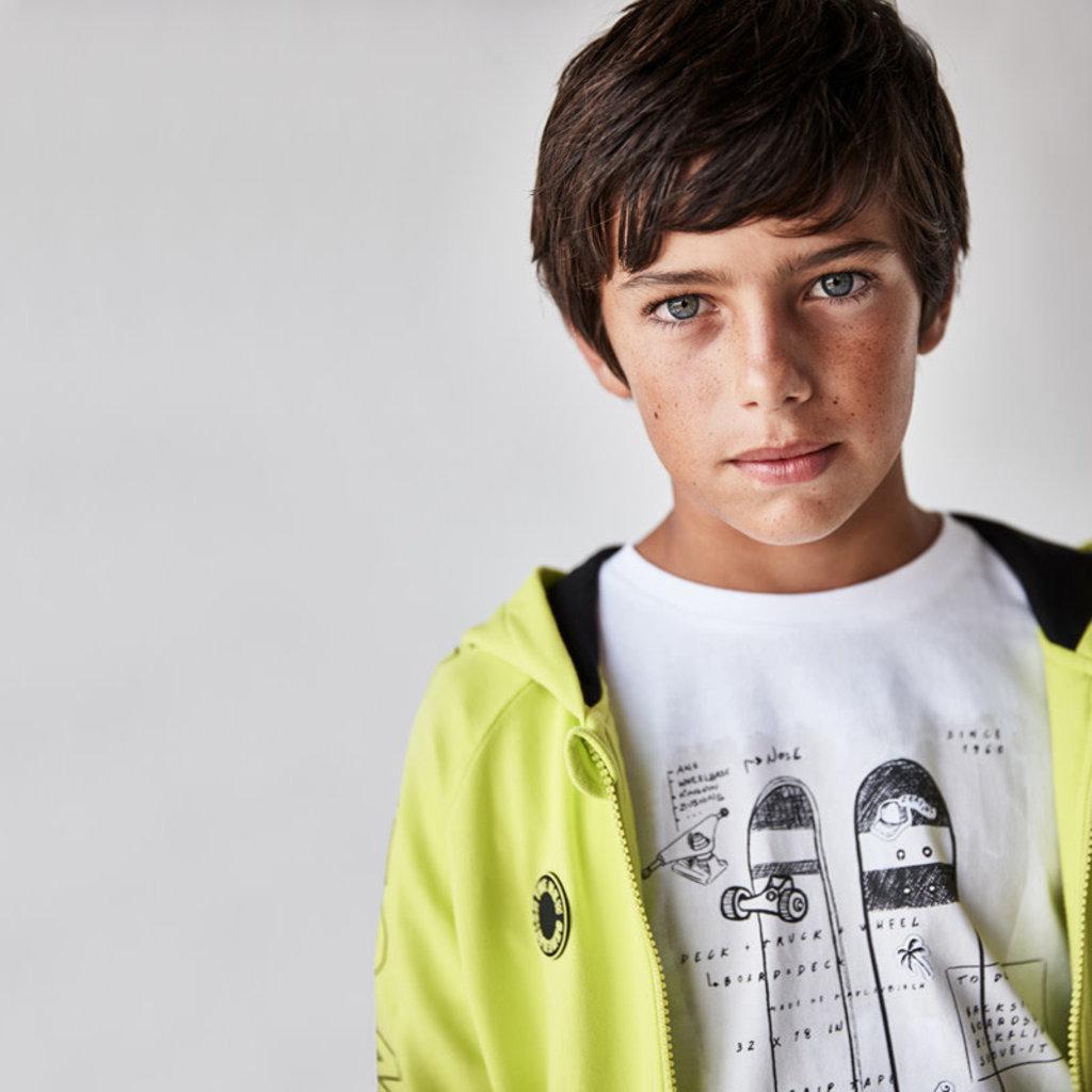 """Mayoral T-shirt """"skate"""" Blanc"""