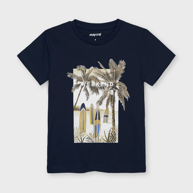 "Mayoral T-shirt ""weekend vibes"" - Marine"