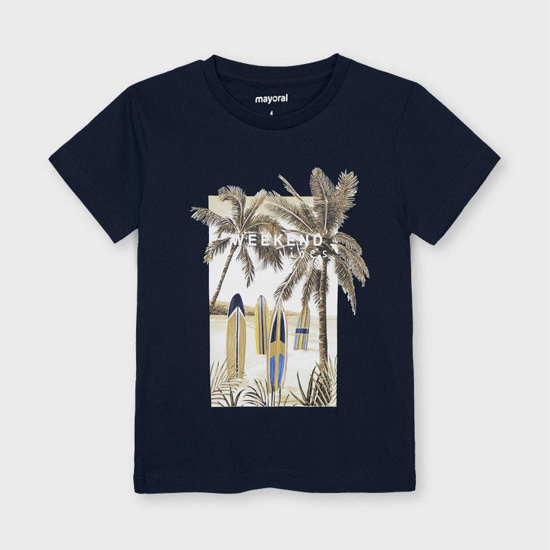"Mayoral T-shirt ""weekend vibes"" - Marine"