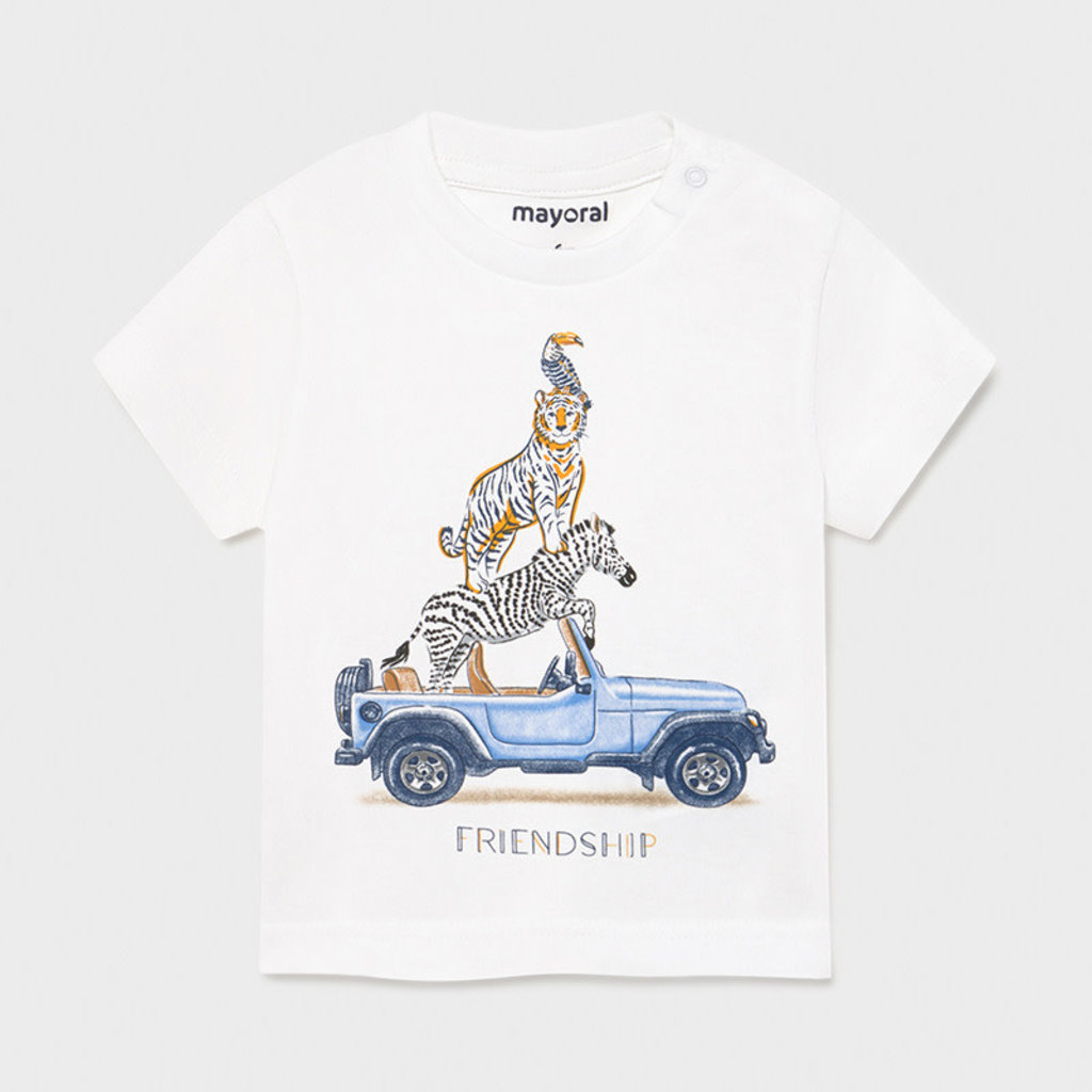 """Mayoral T-shirt """"friendship"""" - Blanc"""