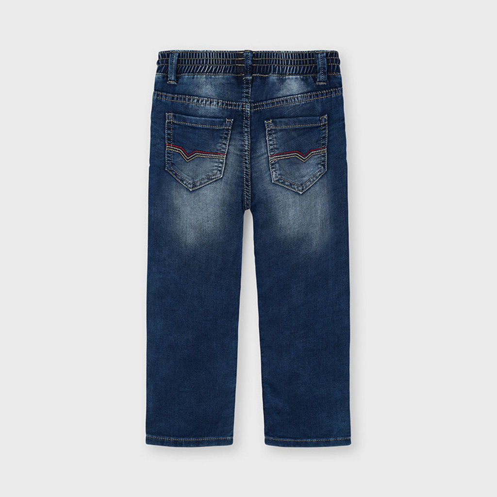 Mayoral Pantalon jeans jogger soft  - denim moyen