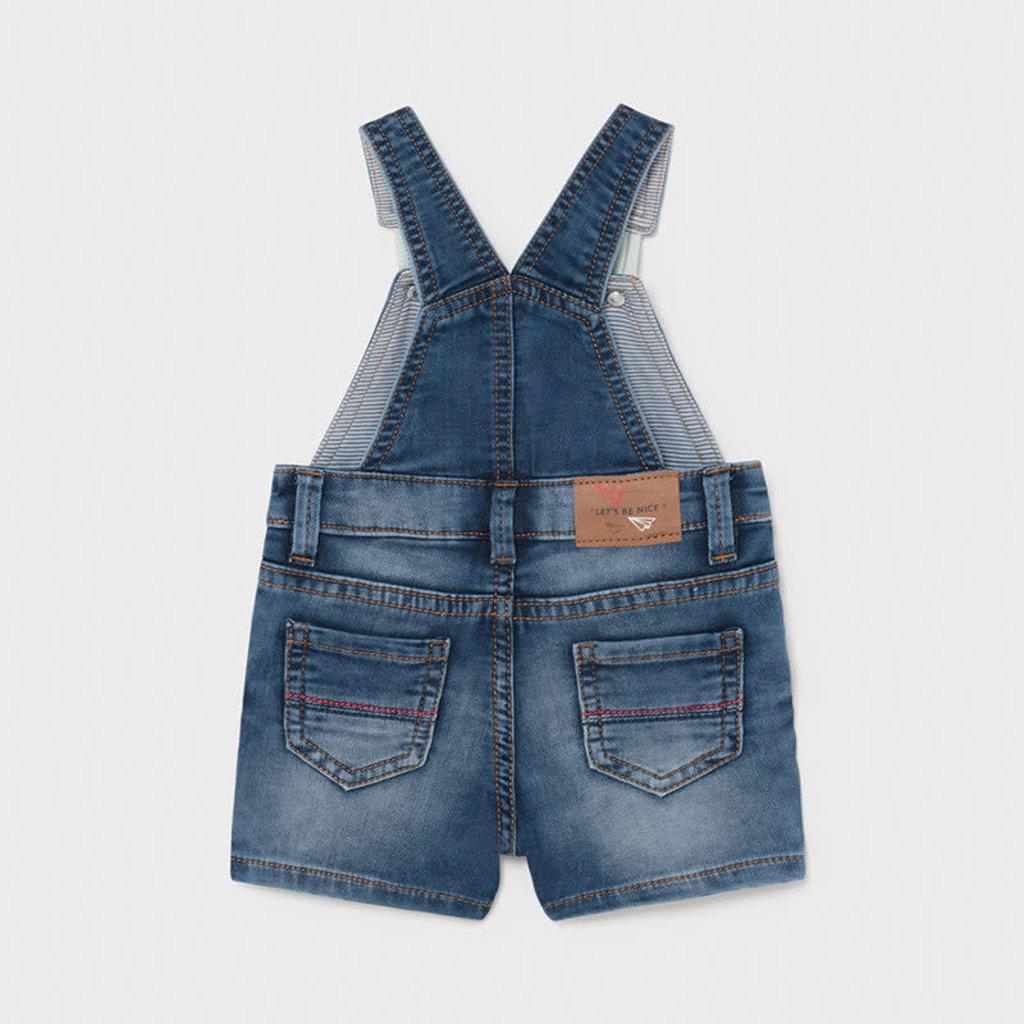 Mayoral Salopette courte soft denim - jeans