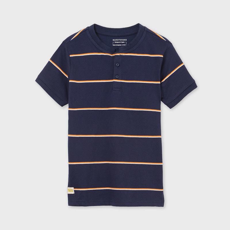 Mayoral T-shirt rayure - Bleu (Mer)