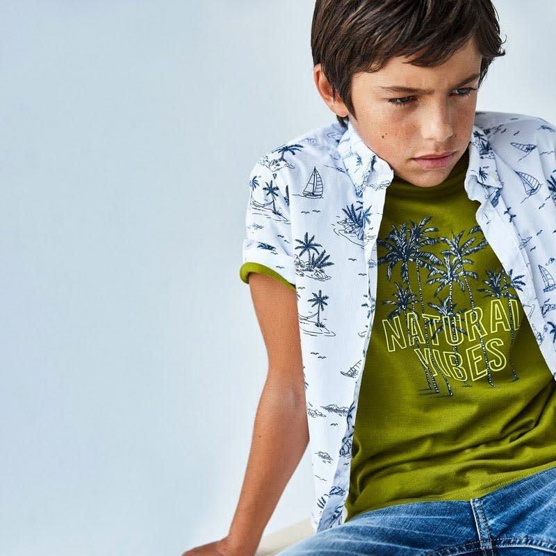 """Mayoral T-shirt """"naturel vibes"""" - Amazone"""