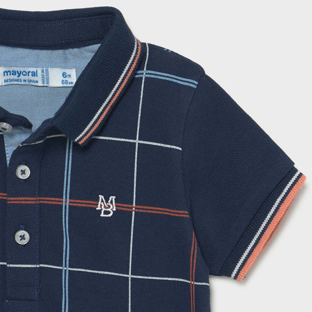 Mayoral Polo carreaux - Bleu