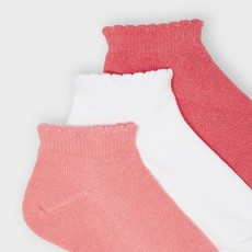 Mayoral Chaussettes (lot 3 paires) - Coral