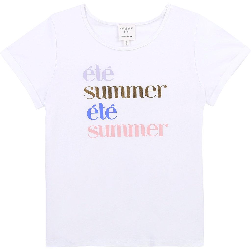 """Carrément Beau T-shirt - """"Ete-Summer"""" - Blanc"""
