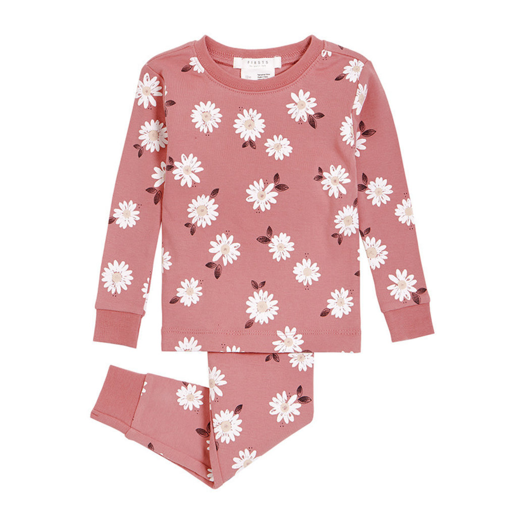 Petit Lem Pyjama 2 pièces tricot - rose marguerite -