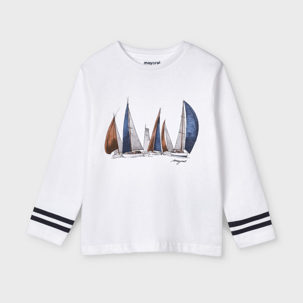 """Mayoral T-shirt """"bateau"""" - Blanc"""