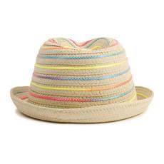 Billie Blush Chapeau rainbow stripe straw -