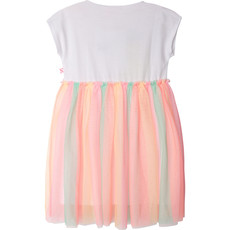 Billie Blush Robe Jersey (ananas)  tulle (multicolore) - Blanc