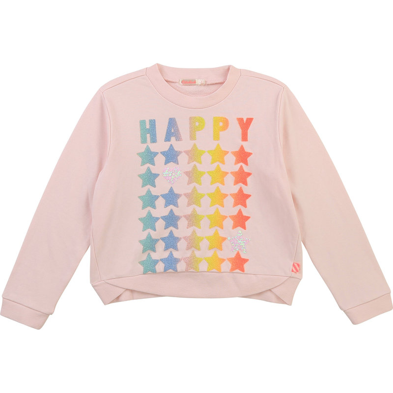 """Billie Blush Chandail """"Happy star"""" - Rose du matin"""