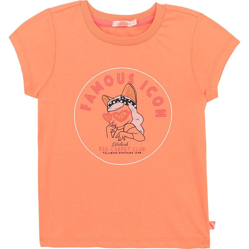"""Billie Blush T-shirt """"Famous Icon"""" - Pêche"""