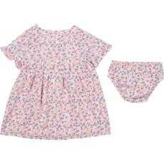 Carrément Beau Robe et culotte cache-couche  tropicale - Rose pâle