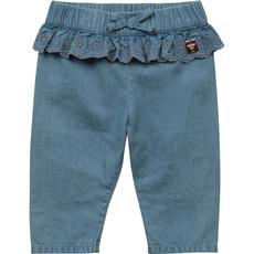 Carrément Beau Pantalon avec frison - Denim pâle