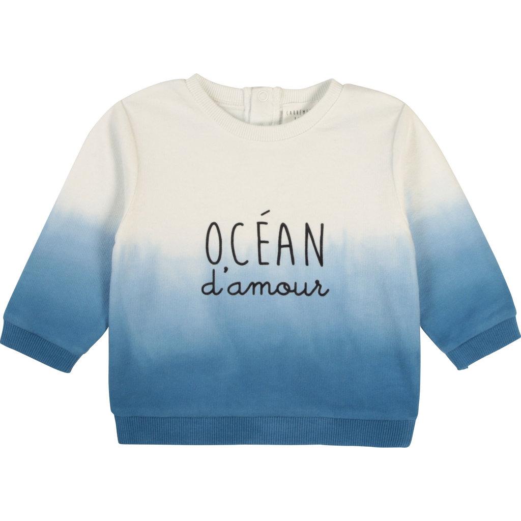 """Carrément Beau Chandail """"Ocean d'amour"""" Bleu&Blanc"""