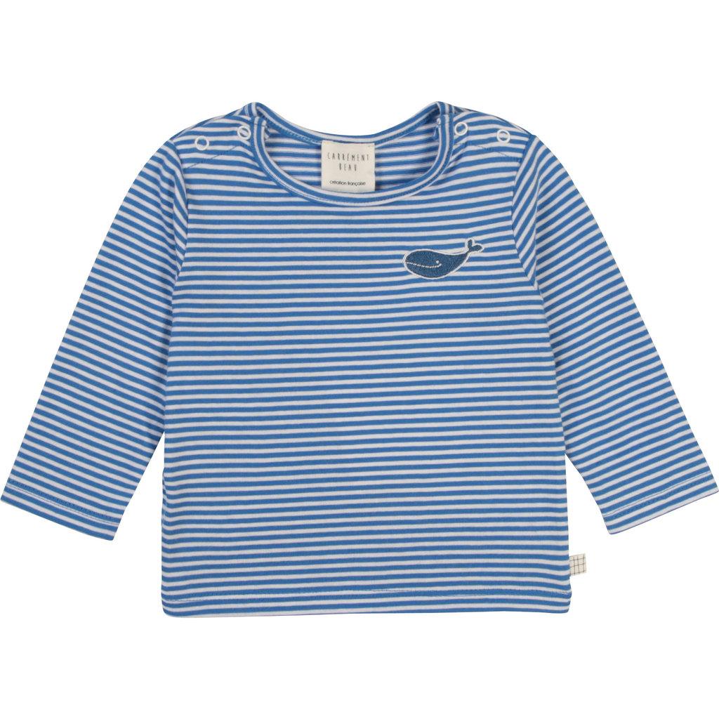 """Carrément Beau Chandail rayure """"baleine"""" Blanc&Bleu"""