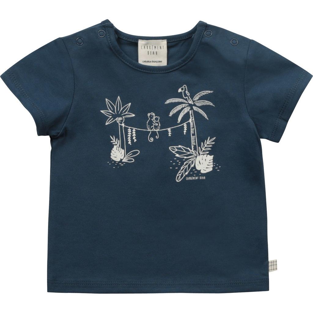 Carrément Beau T-shirt palm tree- bleu -