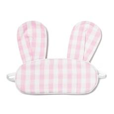 Petite Plume Bunny - Eye Mask - pink gingham