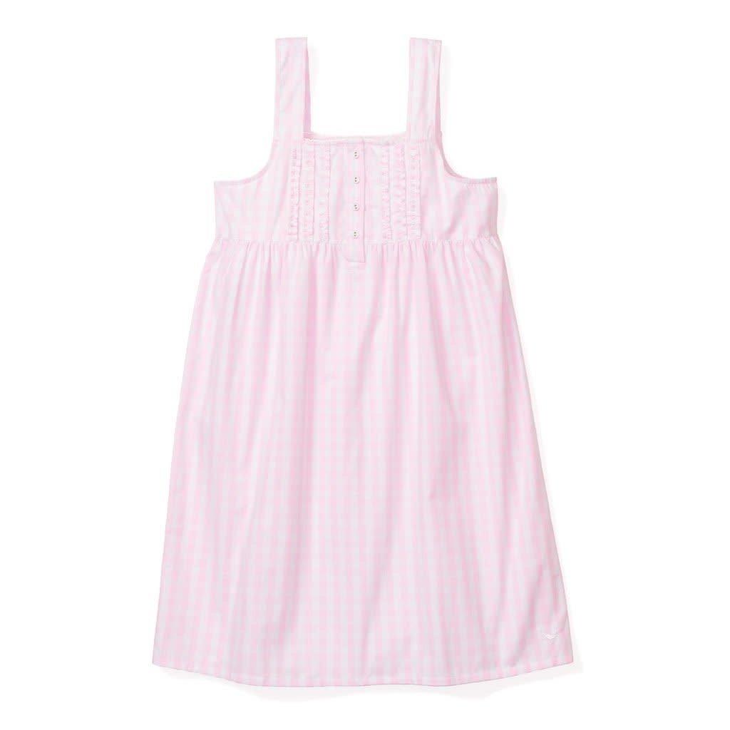 Petite Plume Adulte Robe de nuit Charlotte - pink gingham