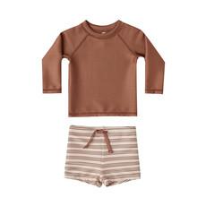 Rylee & Cru Rasguard body set bébé garçon - amber stripe -