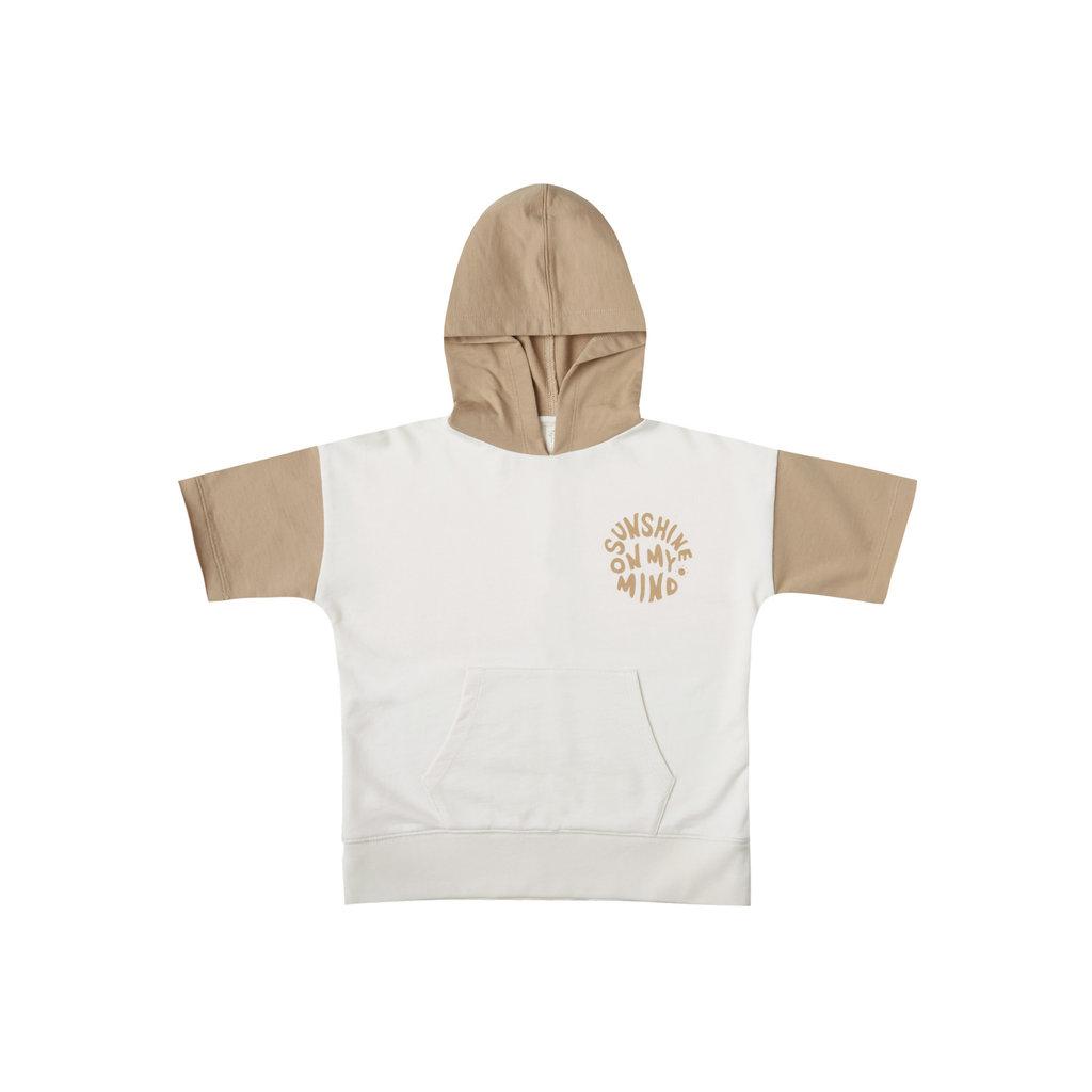Rylee & Cru Short sleeve hoodie - ivory-almond