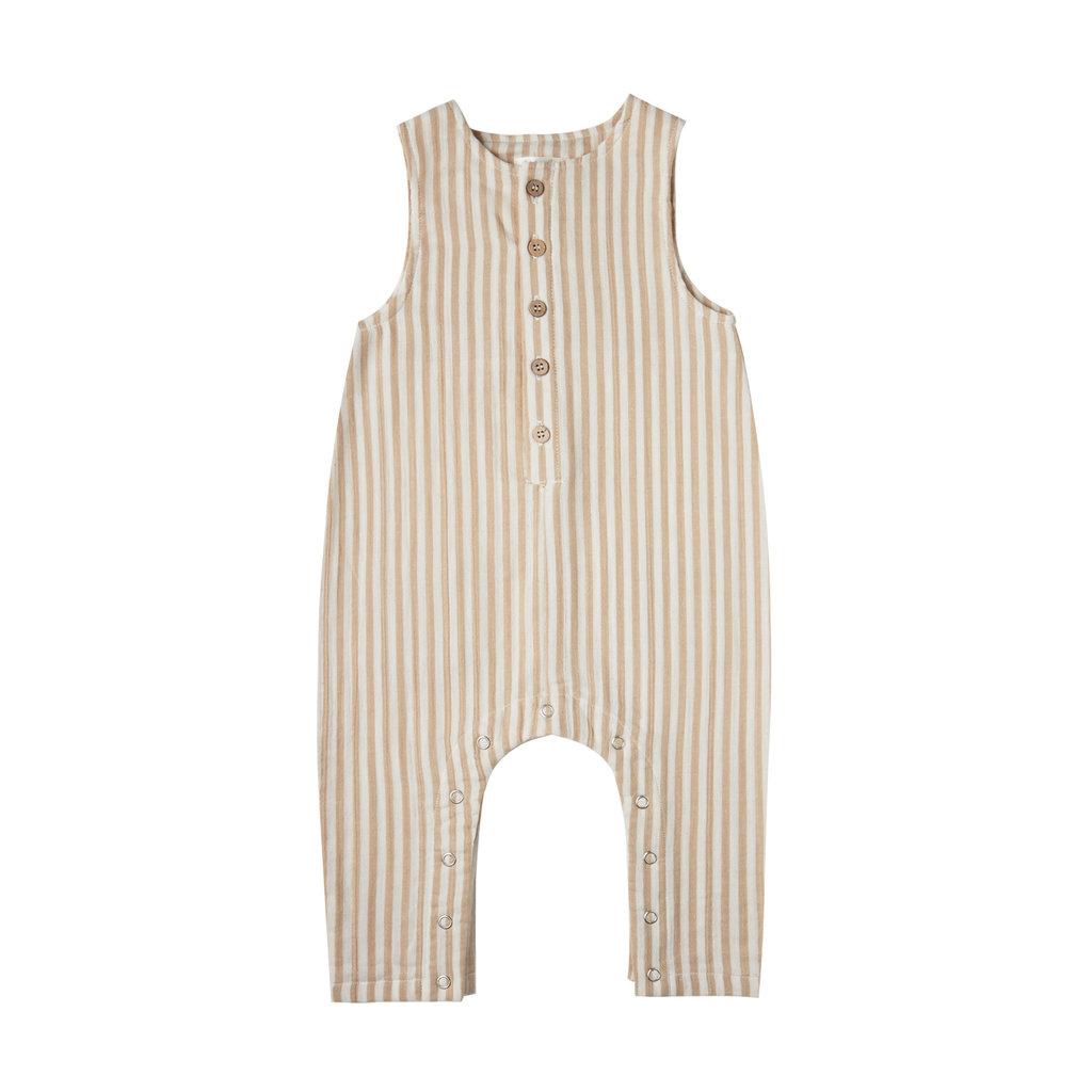 Rylee & Cru Button jumpsuit bébé garçon - almond stripe -
