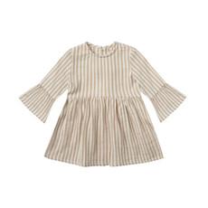 Rylee & Cru Robe bébé fille - almond stripe -