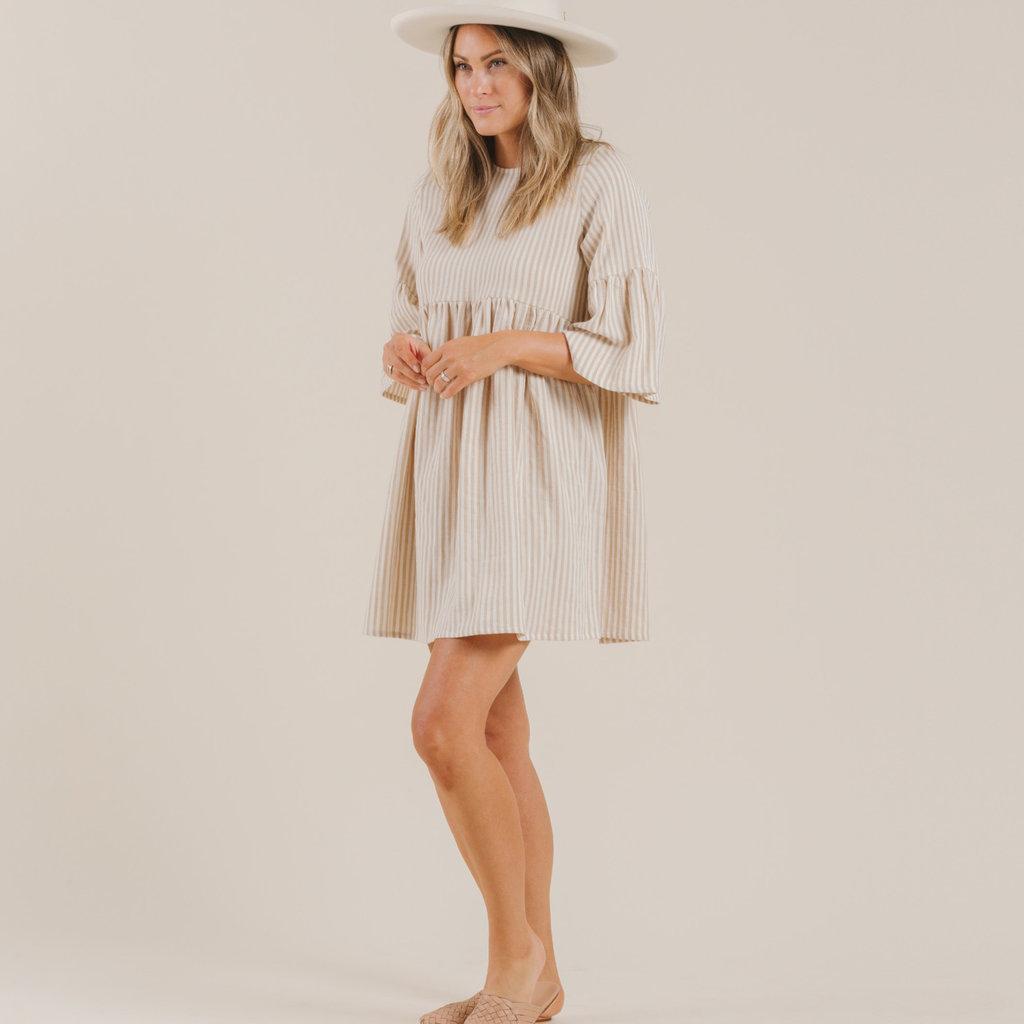 Rylee & Cru Adultes Robe - almond stripe -