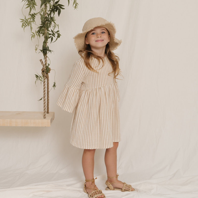 Rylee & Cru Robe fille - almond stripe -
