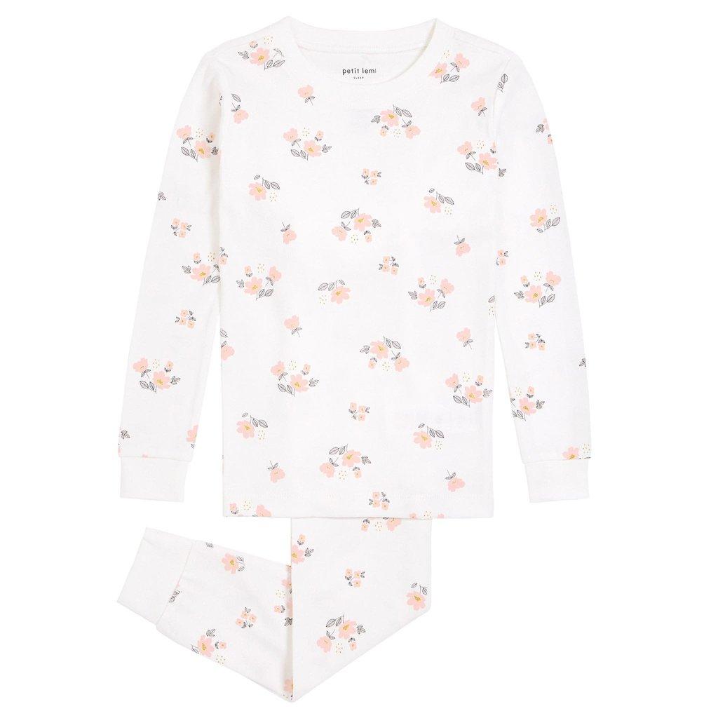 Petit Lem Pyjama 2 pièces - fleurs roses -