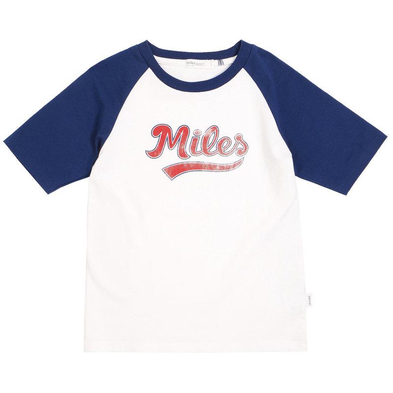 Miles Baby Tshirt de sport style baseball - bleu marin -