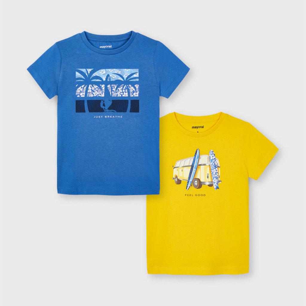"Mayoral Ens. 2 Tshirt ""sound"" - Jaune"