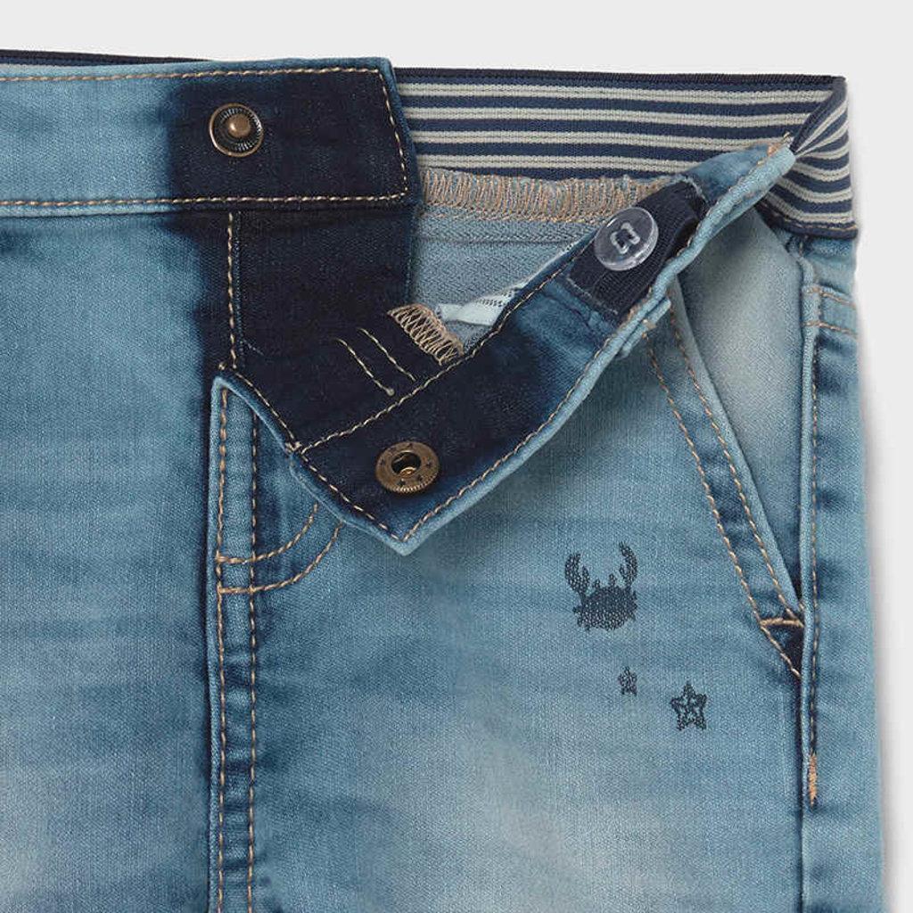 Mayoral Pantalon jeans soft serigraphie - Denim