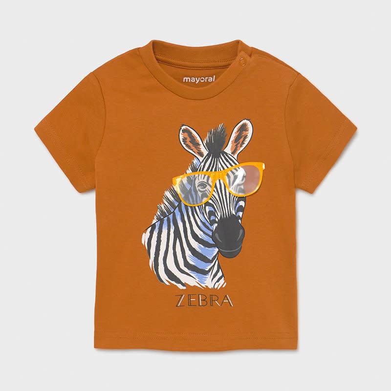 "Mayoral T-shirt  ""play"" zebra - Caramel"