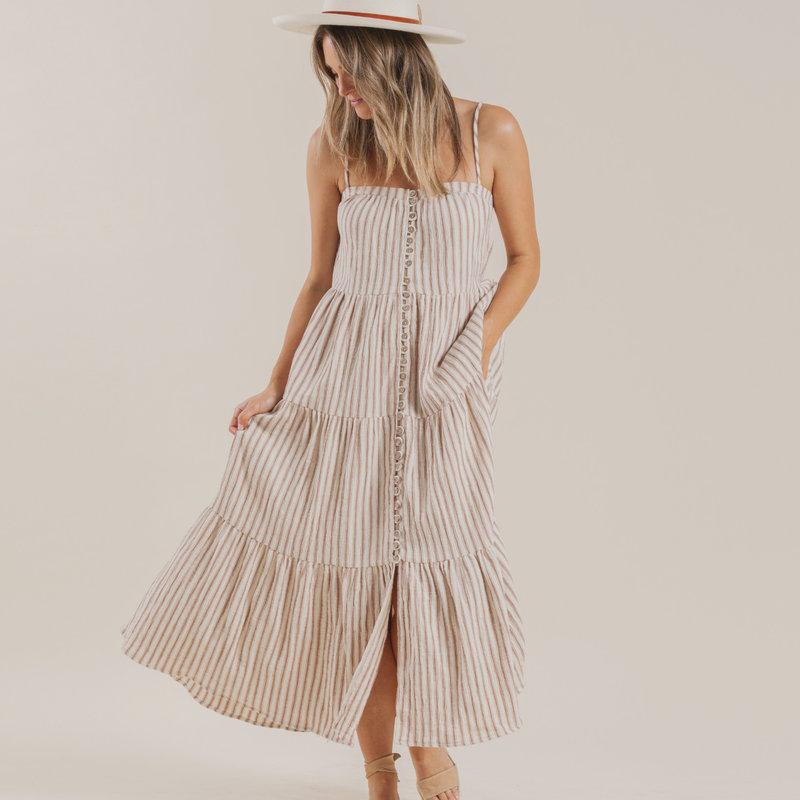 Rylee & Cru Femmes Maxi Dress - amber -