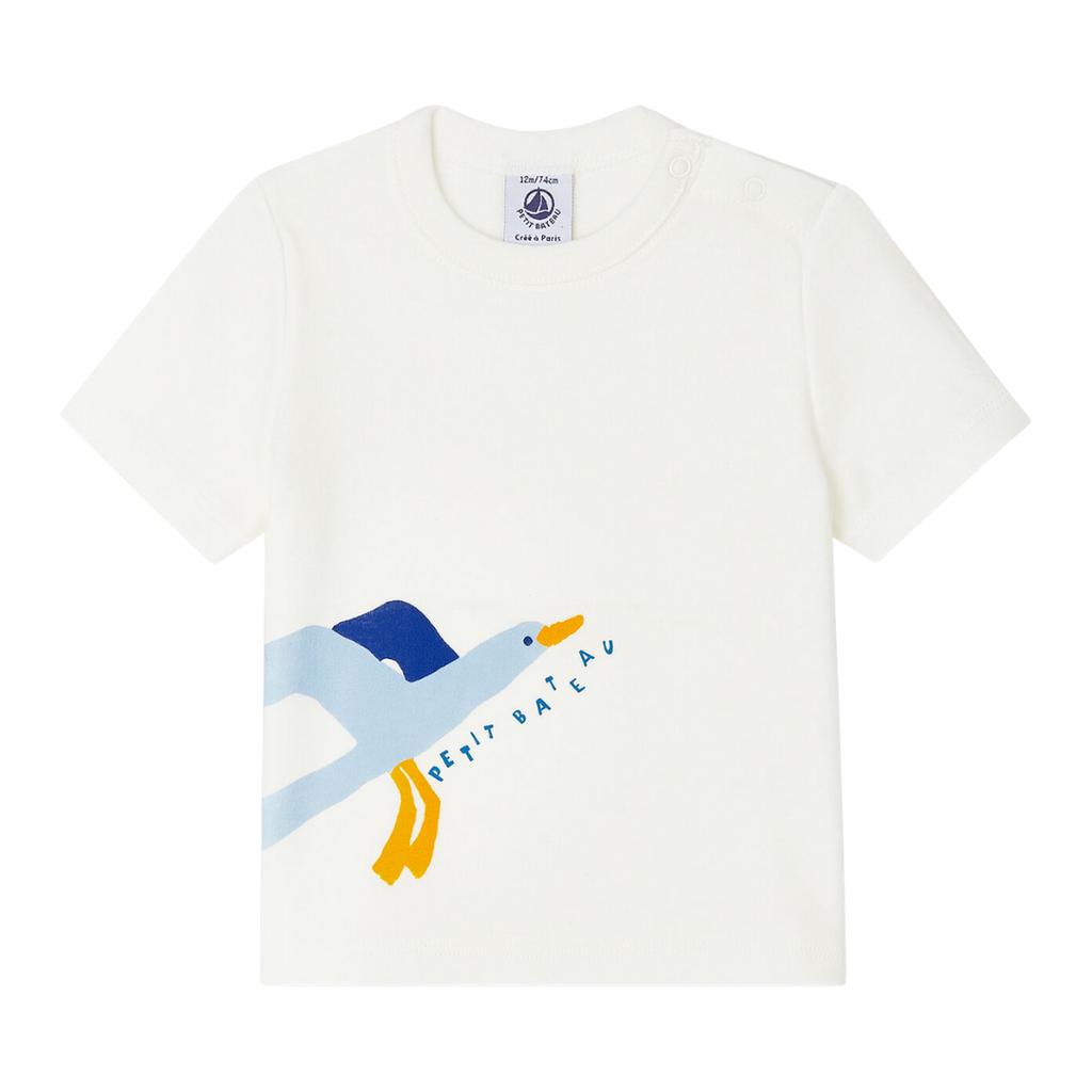 Petit Bateau Tshirt bébé garçon - blanc -