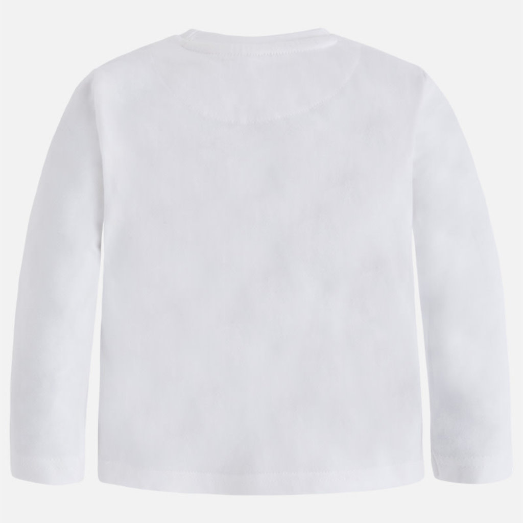 Mayoral T-shirt voiture  - blanc neige