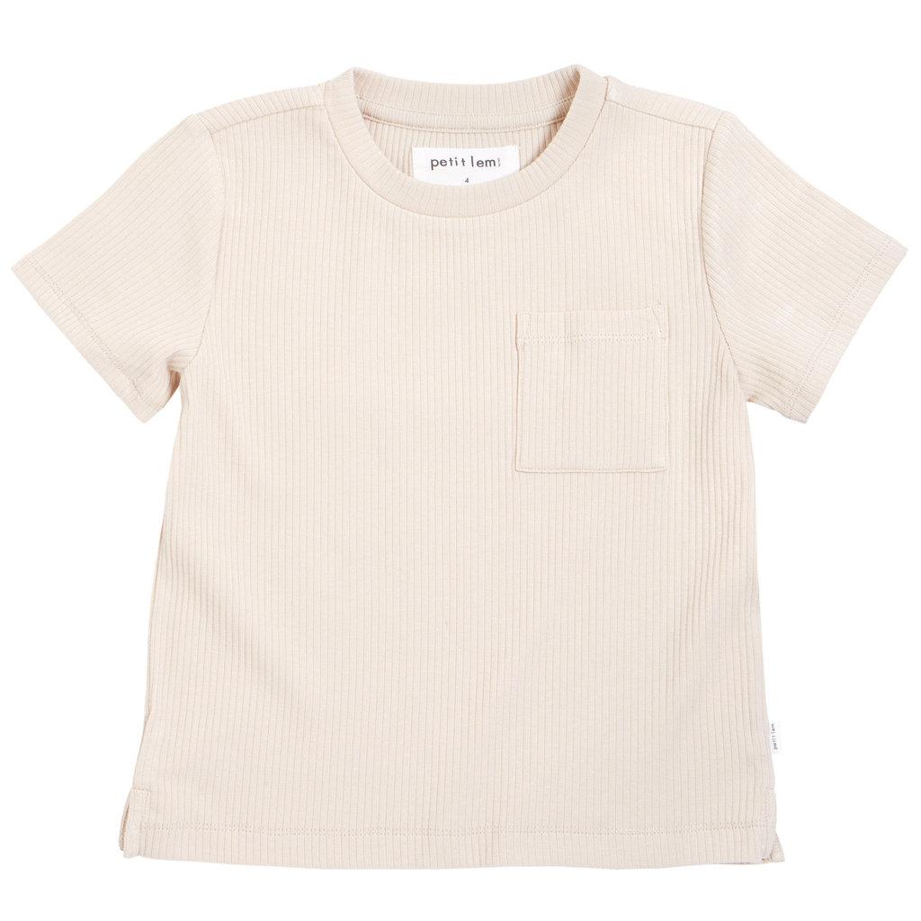 Petit Lem Tshirt en modal côtelé - beige -