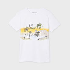 "Mayoral T-shirt ""live aloha"" - Blanc"